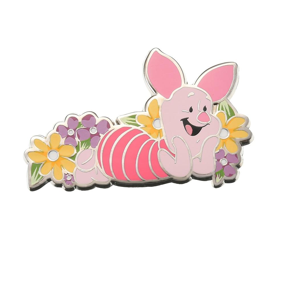 ピグレット ピンバッジ Flower bed