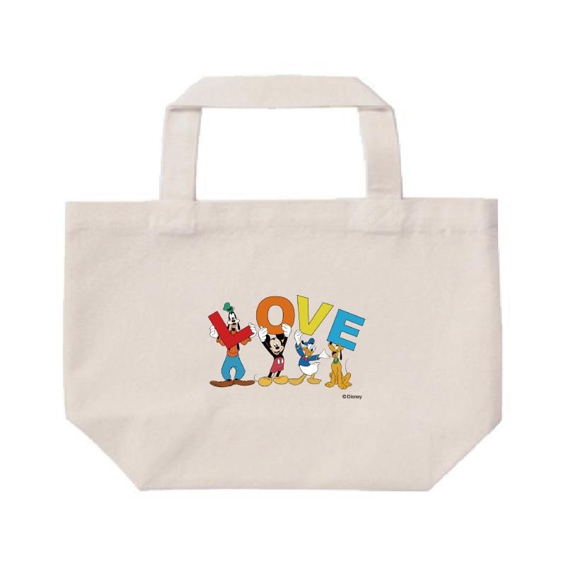 【D-Made】ミニトートバッグ  ミッキー&フレンズ LOVE