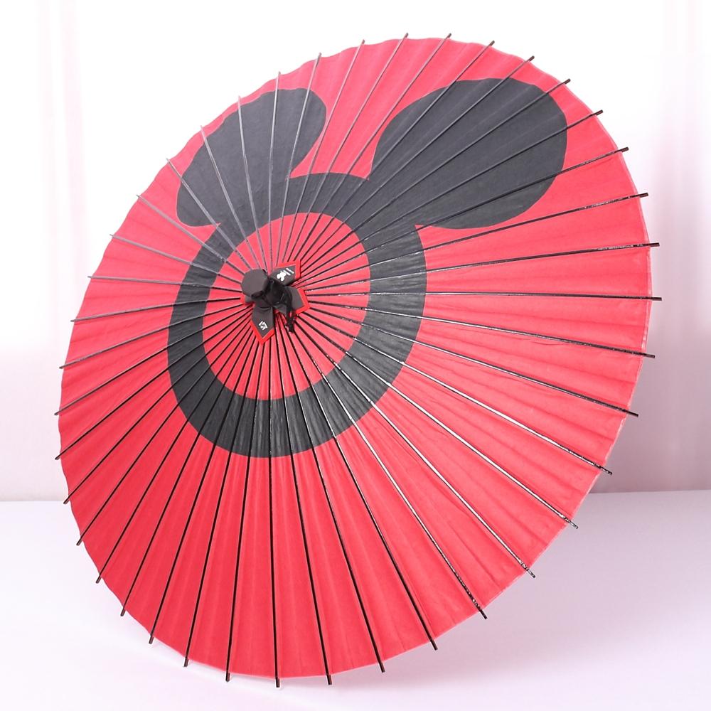 ディズニー/京都伝統工芸 和日傘 ミッキー蛇の目柄