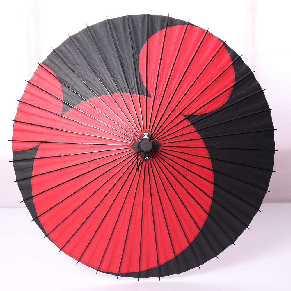 ディズニー/京都伝統工芸 和日傘 ミッキー月奴/赤