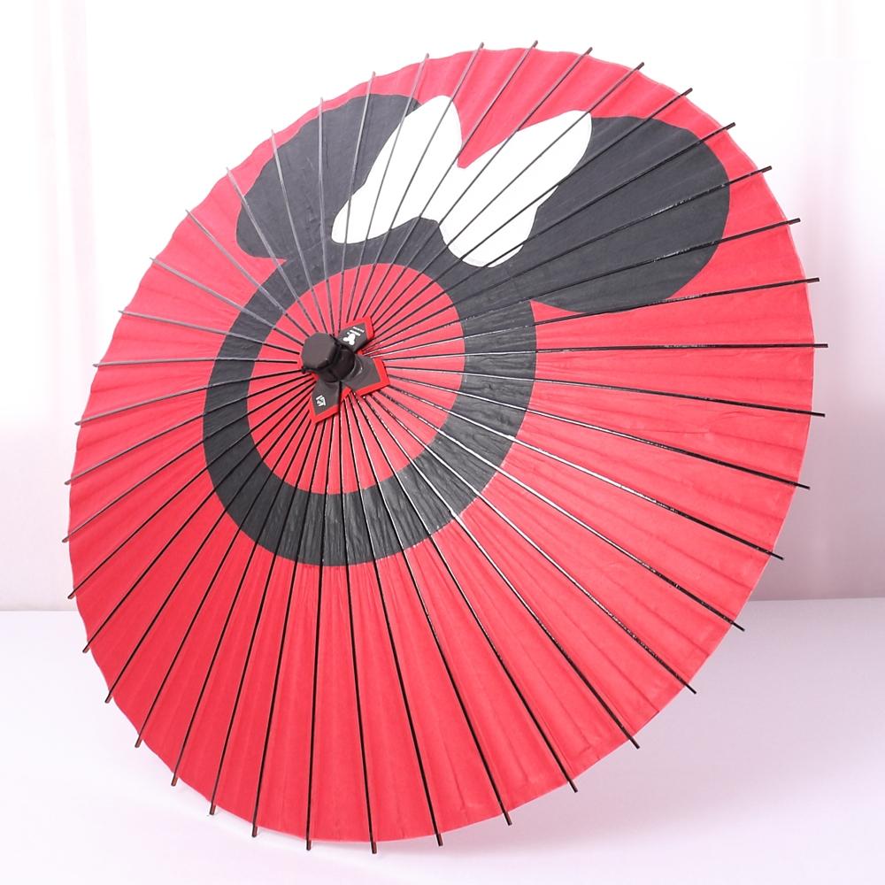 ディズニー/京都伝統工芸 和日傘 ミニー蛇の目柄