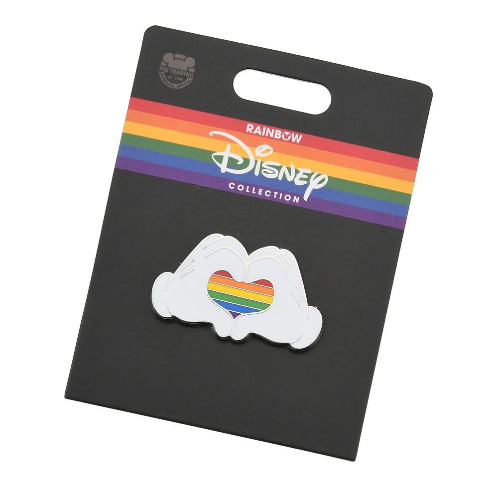 ミッキー ピンバッジ ハート The Walt Disney Company's Pride collection