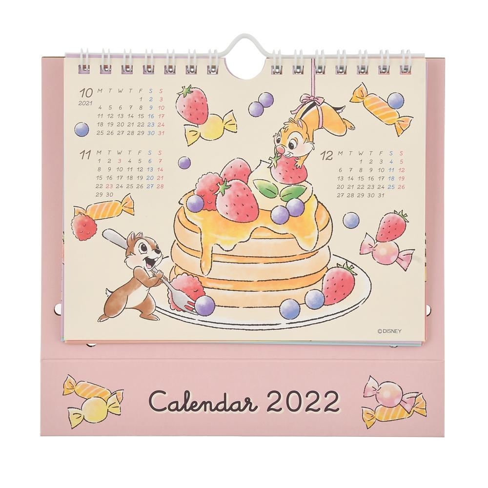 チップ&デール 卓上カレンダー 2022 くいしんぼう ポップアップ CALENDARS & ORGANIZERS