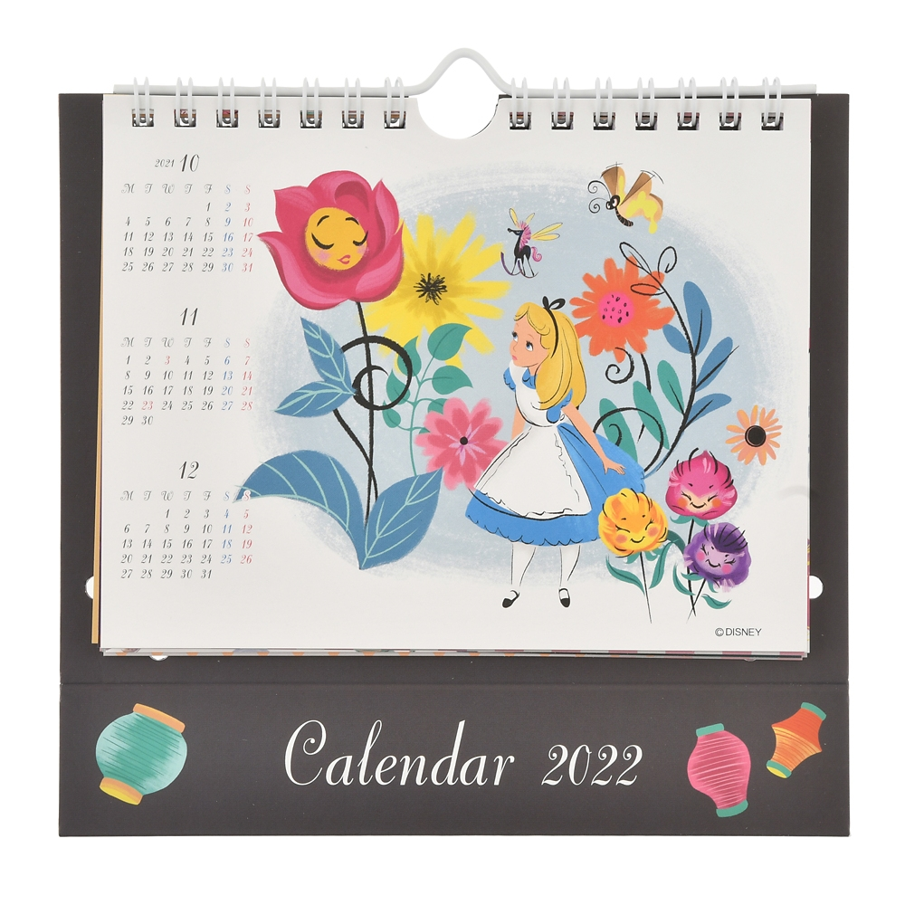 ふしぎの国のアリス 卓上カレンダー 2022 ポップアップ CALENDARS & ORGANIZERS
