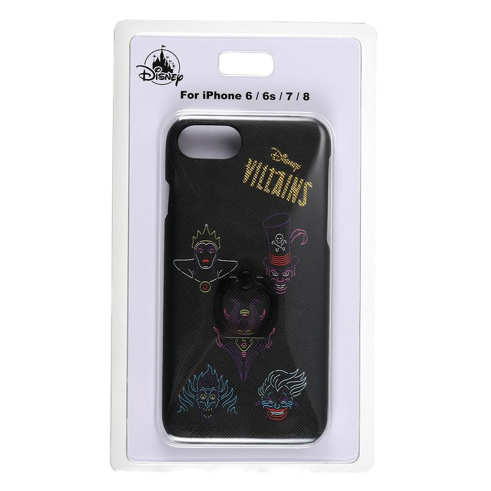 ディズニーヴィランズ iPhone 6/6s/7/8用スマホケース・カバー スマートフォンリングタイプ