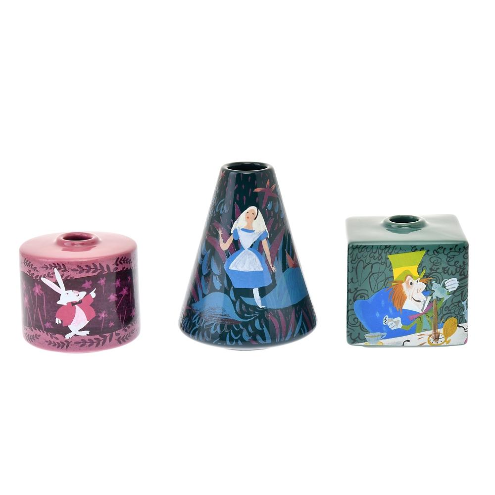 アリス、白うさぎ、マッドハッター フラワーベース・花瓶 Alice in Wonderland by Mary Blair