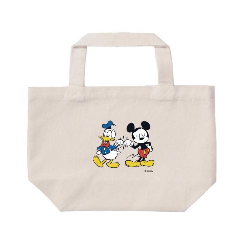 【D-Made】ミニトートバッグ  ミッキー&フレンズ ミッキー&ドナルド グータッチ