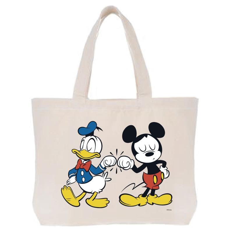 【D-Made】トートバッグ  ミッキー&フレンズ ミッキー&ドナルド グータッチ