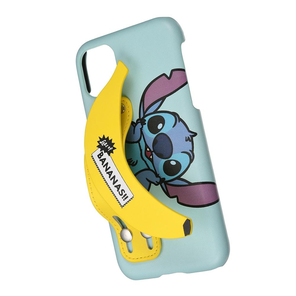 スティッチ iPhone 11用スマホケース・カバー バンド付き LOTS OF BANANAS