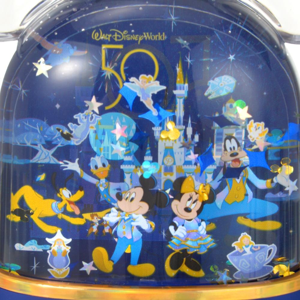 ミッキー&フレンズ スノードーム アイコン WALT DISNEY World 50TH CELEBRATION