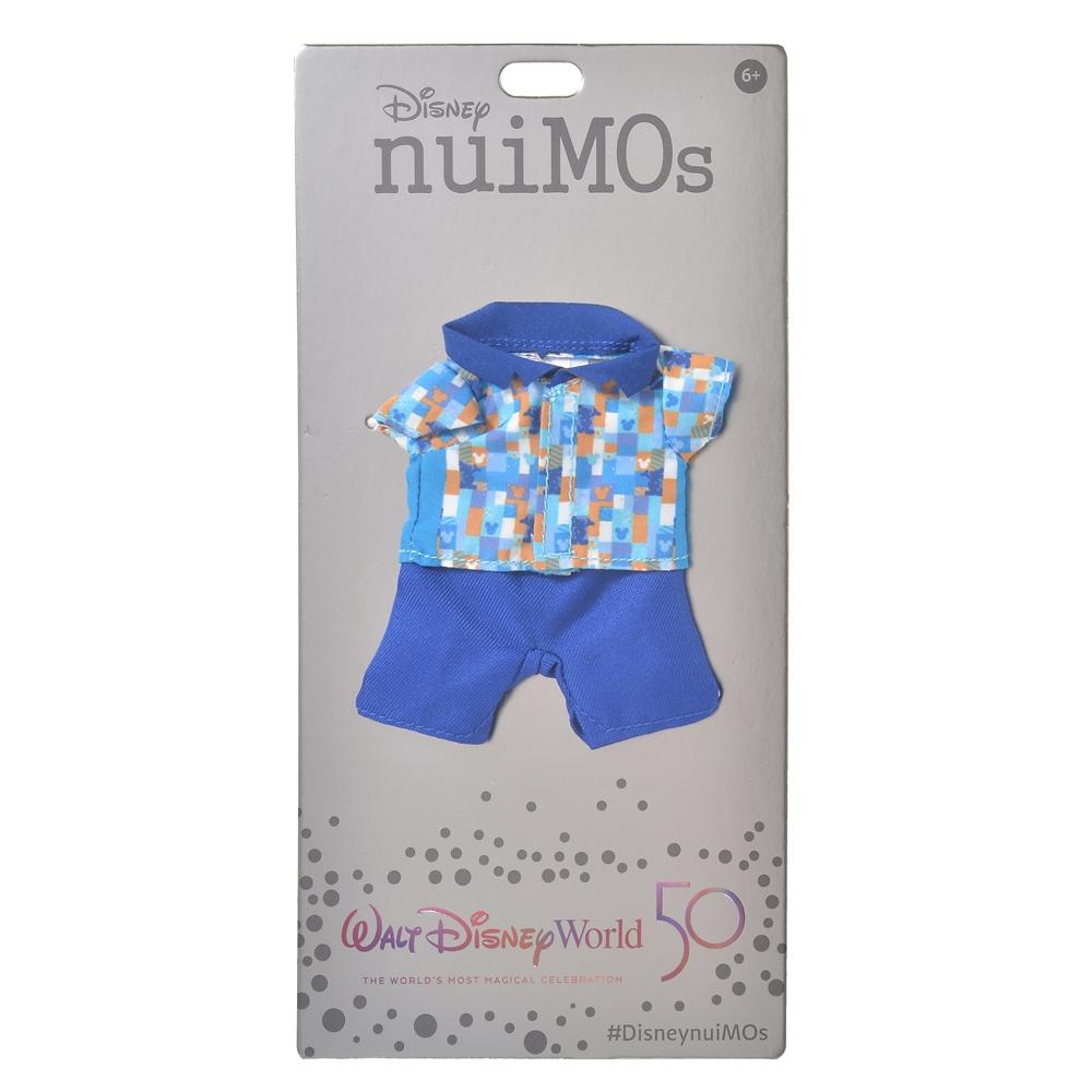 nuiMOs ぬいぐるみ専用コスチューム シャツ&パンツ ミッキー柄 WALT DISNEY World 50TH CELEBRATION
