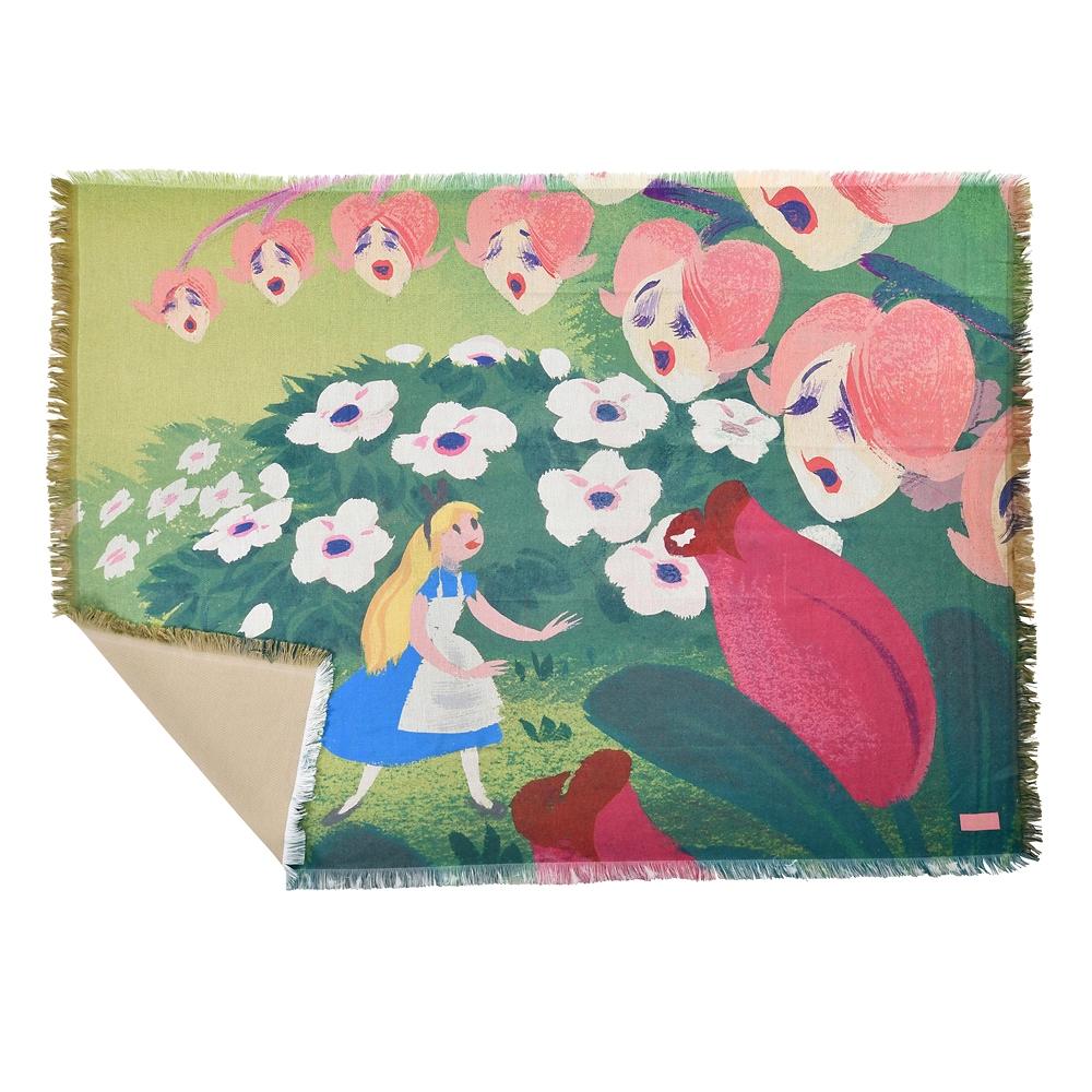 アリス ブランケット 大判 Alice in Wonderland by Mary Blair