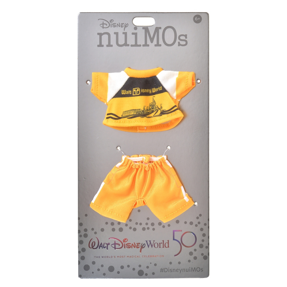 nuiMOs ぬいぐるみ専用コスチューム Tシャツ&パンツ イエロー WALT DISNEY World 50TH VAULT