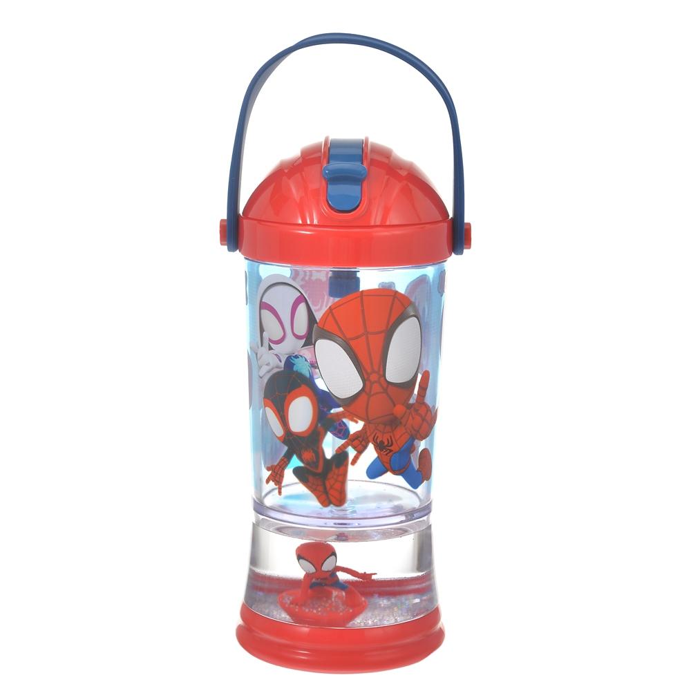 マーベル スパイダーマン、マイルズ・モラレス、 スパイダー・グウェン 水筒・ウォーターボトル スノードーム よろしく!スパイディとすごいなかまたち