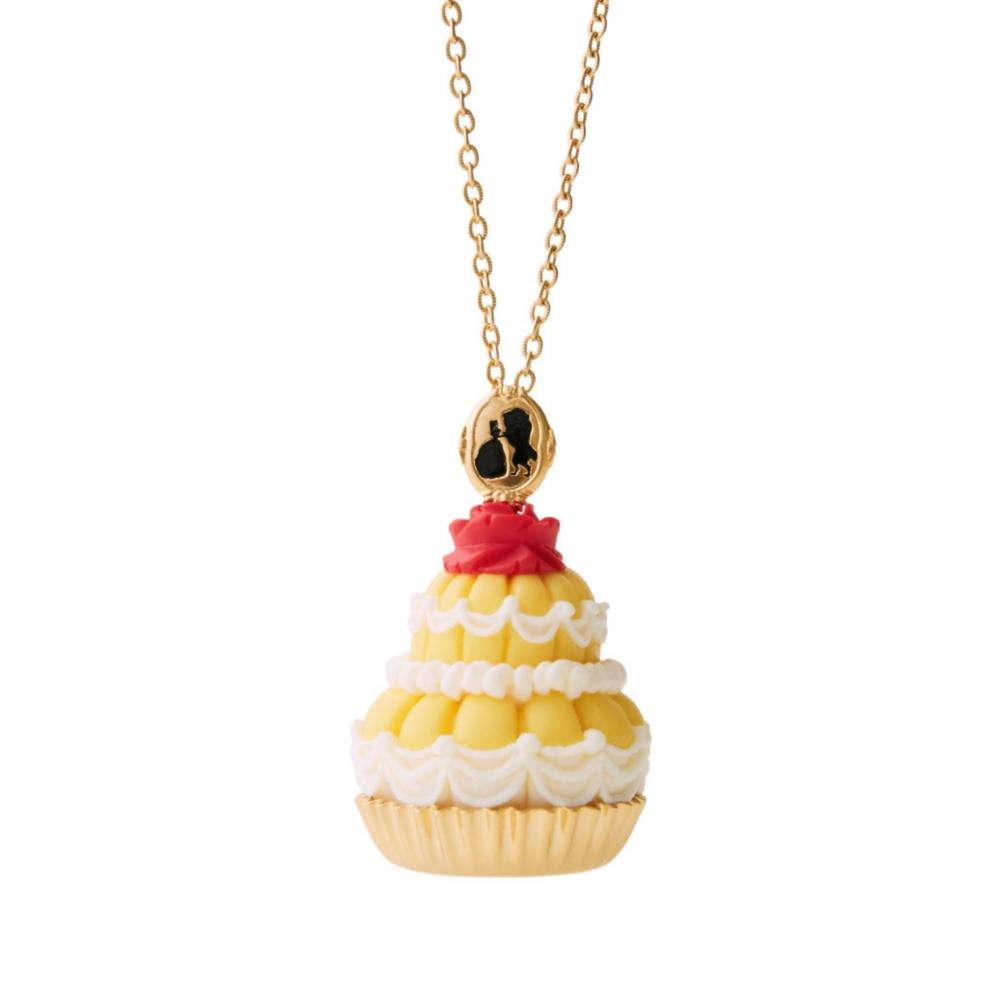 【キューポット】美女と野獣/ネックレス ベルドレスケーキ (イエロー)