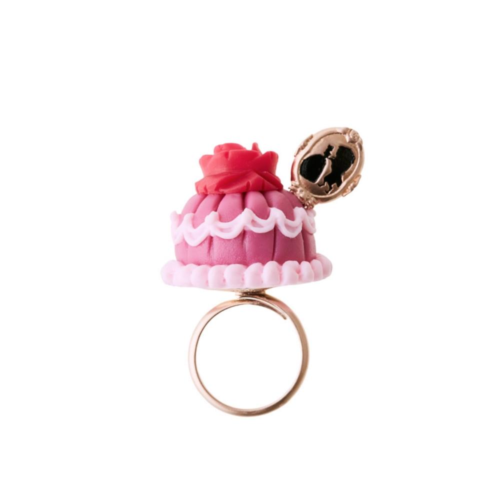 【キューポット】美女と野獣/リング ベルドレスケーキ (ピンク)