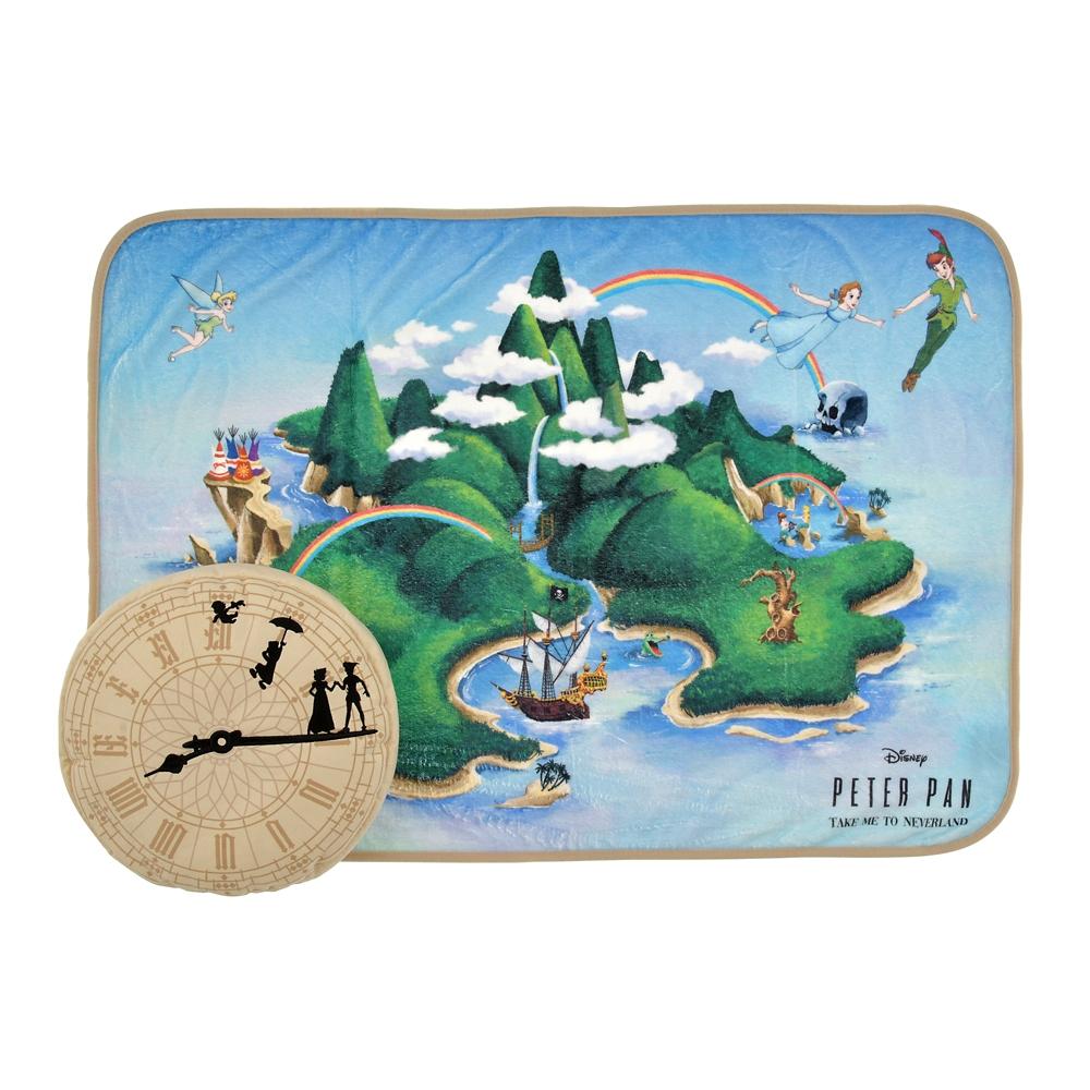 ピーター・パン クッション・ブランケット Flying to Neverland