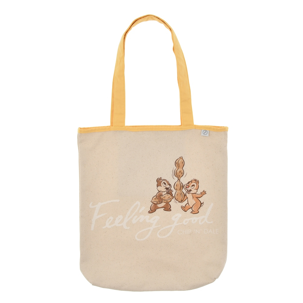 【FOOD TEXTILE】チップ&デール トートバッグ イエロー Chip&Dale FOOD TEXTILE