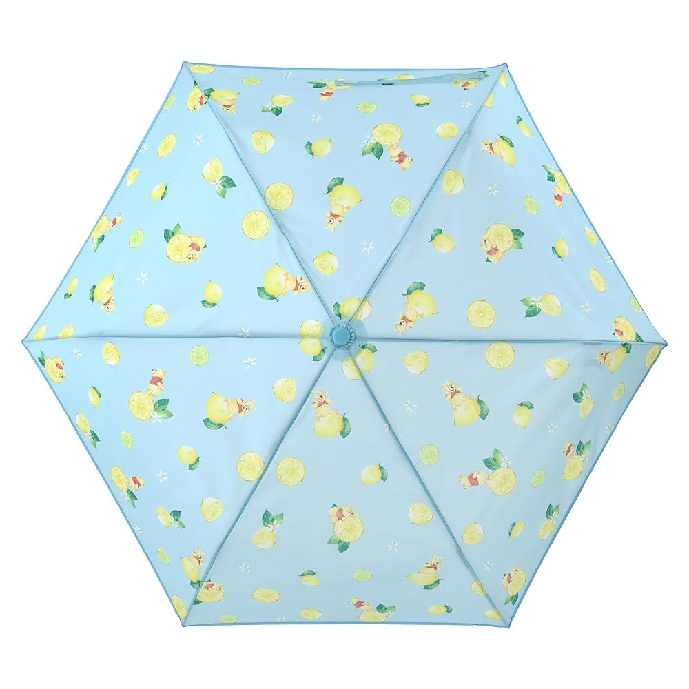 プーさん 傘 折りたたみ式 晴雨兼用 ウォーターカラー サマー