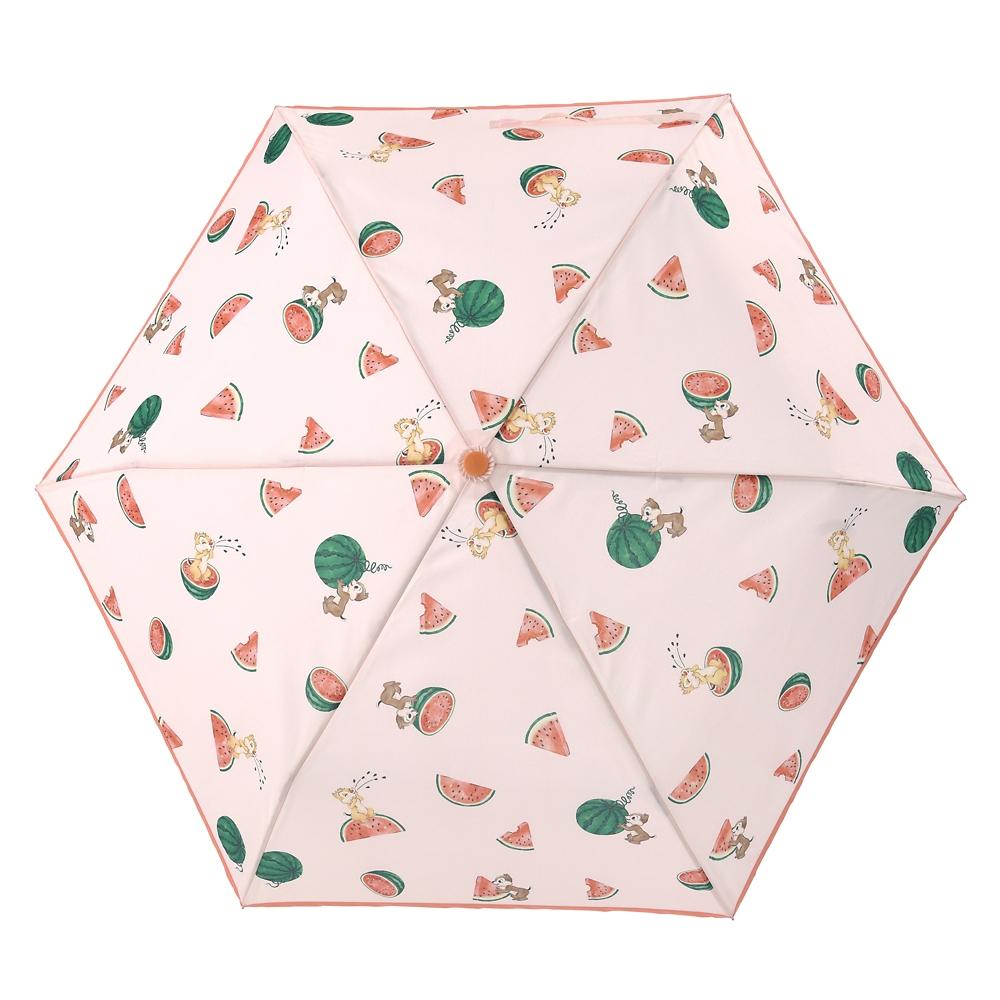 チップ&デール 傘 折りたたみ式 晴雨兼用 ウォーターカラー サマー