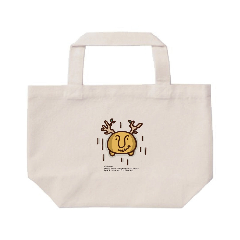 【D-Made】ミニトートバッグ  カナヘイ画♪くまのプーさん 食べすぎたプーさん