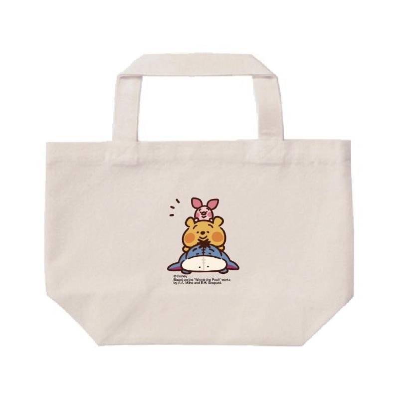 【D-Made】ミニトートバッグ  カナヘイ画♪くまのプーさん プー&ピグレット&イーヨー