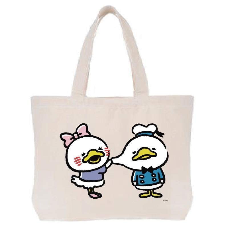 【D-Made】トートバッグ  うごく!カナヘイ画♪ミッキー&フレンズ ドナルド&デイジー