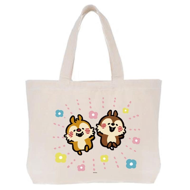 【D-Made】トートバッグ  うごく!カナヘイ画♪ミッキー&フレンズ チップ&デール