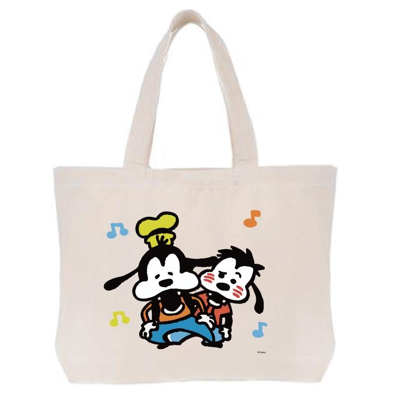 【D-Made】トートバッグ  うごく!カナヘイ画♪ミッキー&フレンズ グーフィー&マックス