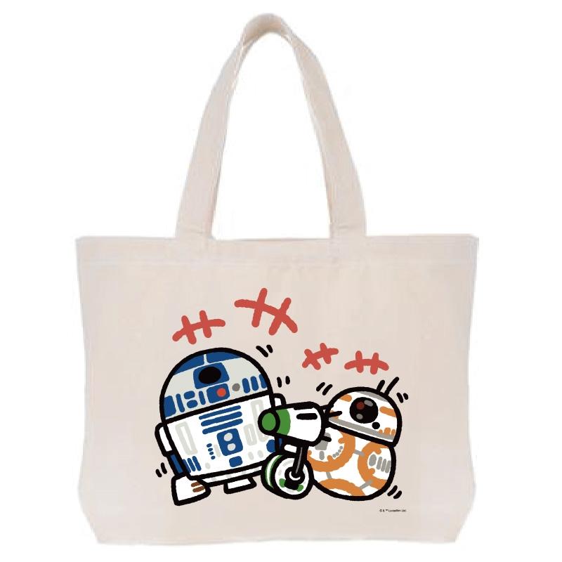 【D-Made】トートバッグ  カナヘイ画♪スター・ウォーズ R2-D2&BB-8
