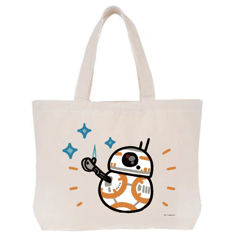 【D-Made】トートバッグ  カナヘイ画♪スター・ウォーズ BB-8
