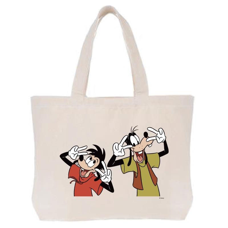 【D-Made】トートバッグ  グーフィー&マックス ダンスポーズ  We love Goofy