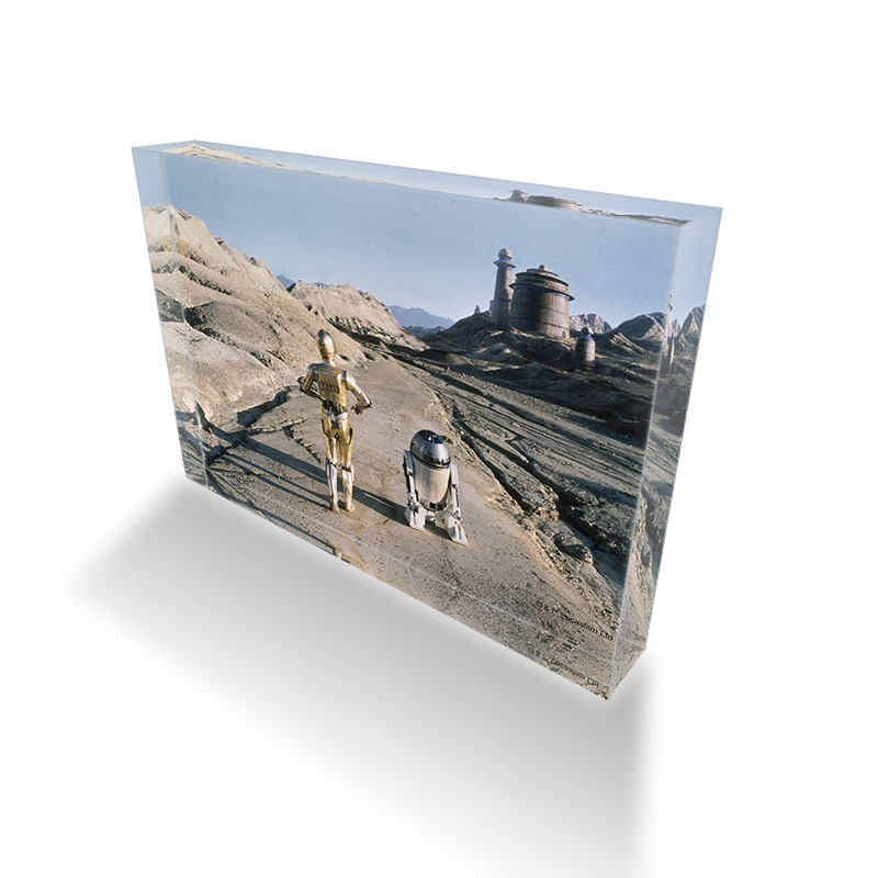 【D-Made】アクリルブロック 映画『スター・ウォーズ エピソード6/ジェダイの帰還』 C-3PO&R2-D2