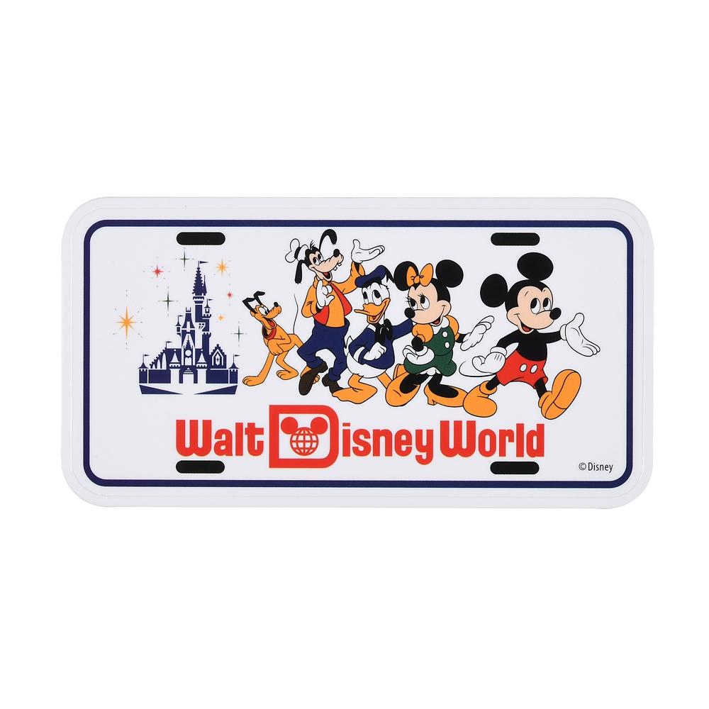 ミッキー&フレンズ シール・ステッカー ナンバープレート WALT DISNEY World 50TH VAULT