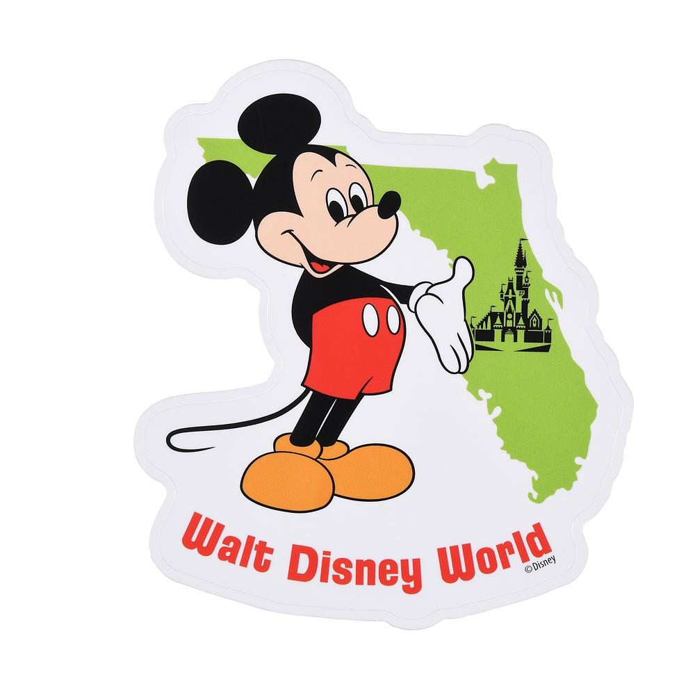 ミッキー シール・ステッカー Florida WALT DISNEY World 50TH VAULT