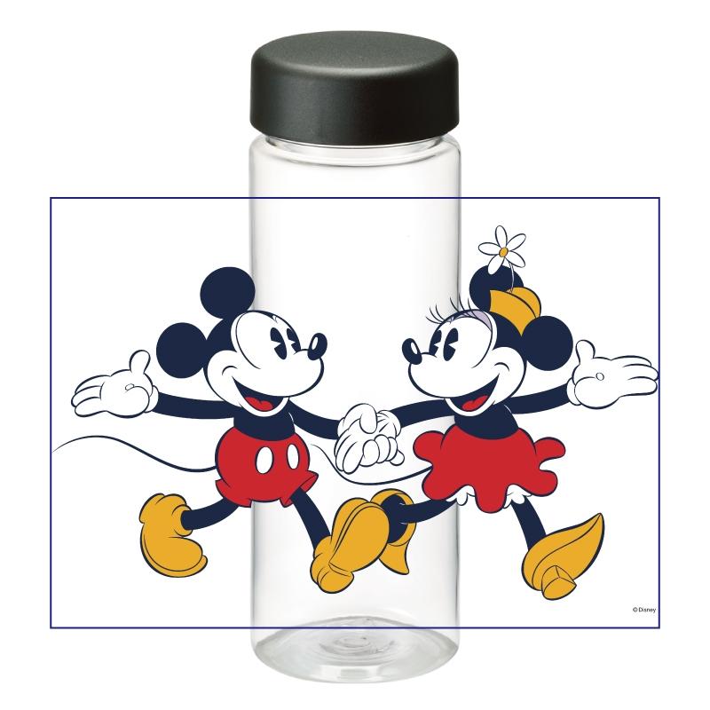 【D-Made】クリアボトル ミッキー&ミニー レトロ