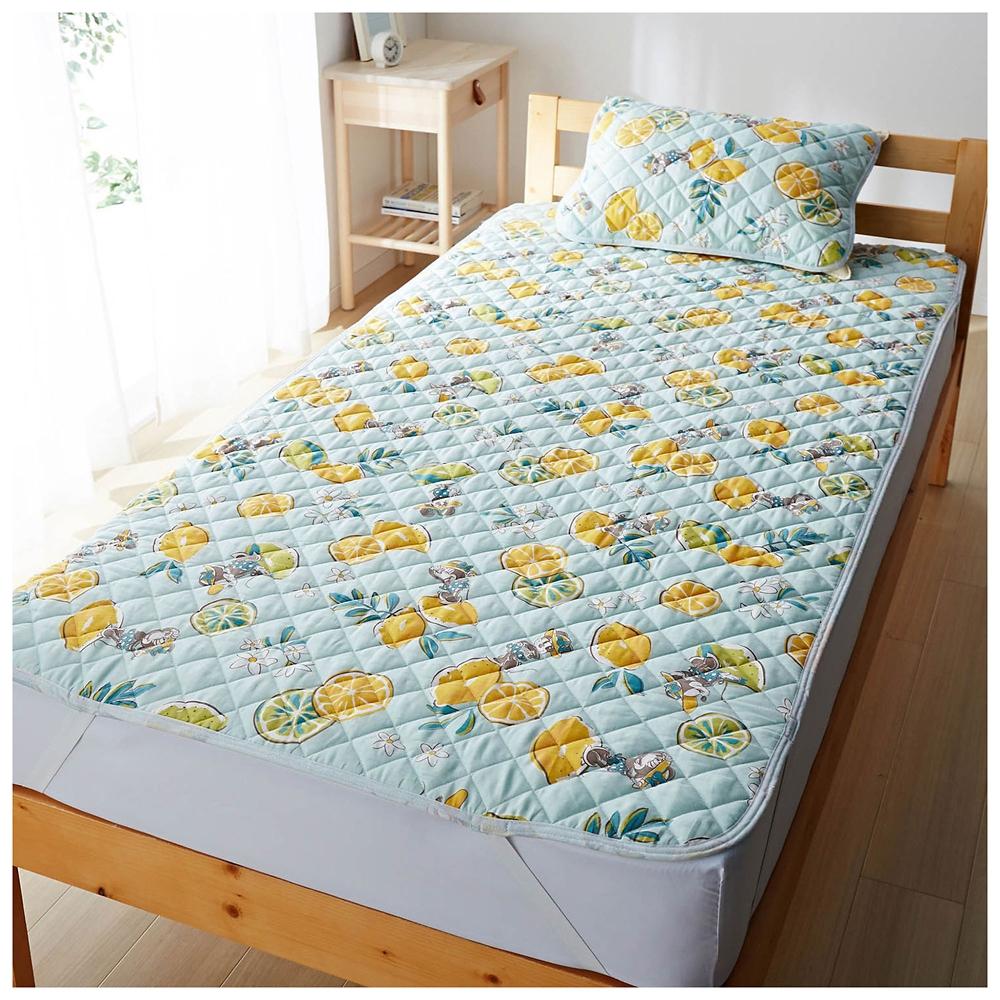 ミニー 枕パッド&敷きパッドセット シングル リバーシブル 接触冷感 ダブルガーゼ