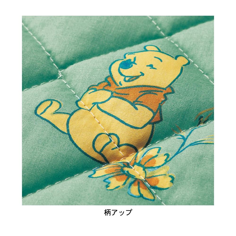 プーさん 枕パッド&敷きパッドセット シングル 綿100%