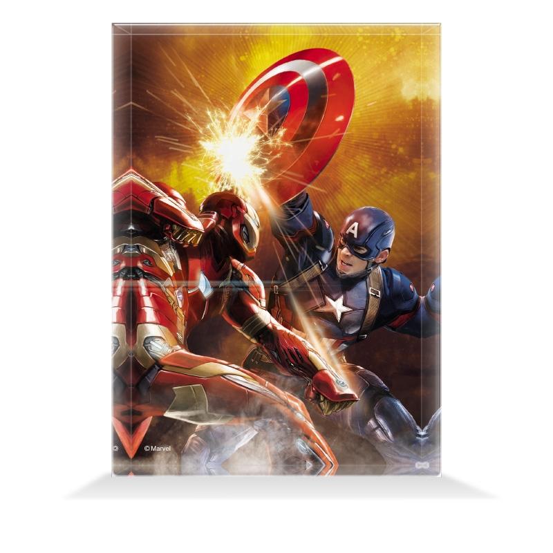 【D-Made】アクリルブロック MARVEL 『シビル・ウォー/キャプテン・アメリカ』 アイアンマン vs キャプテン・アメリカ