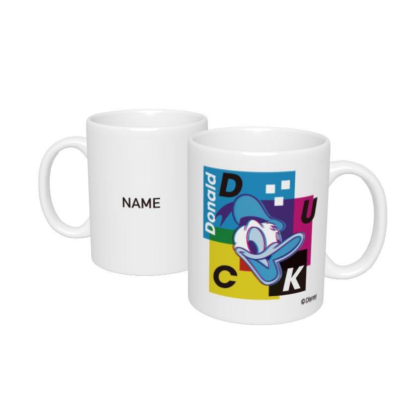 【D-Made】名入れマグカップ  ドナルド カラフル