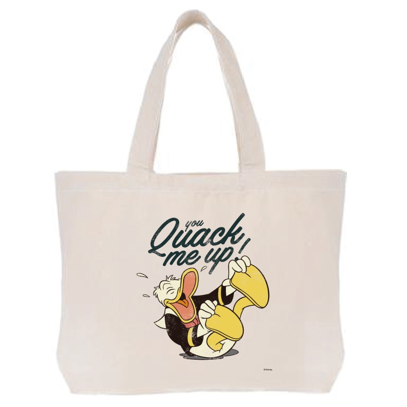 【D-Made】トートバッグ  ドナルド you quack me up