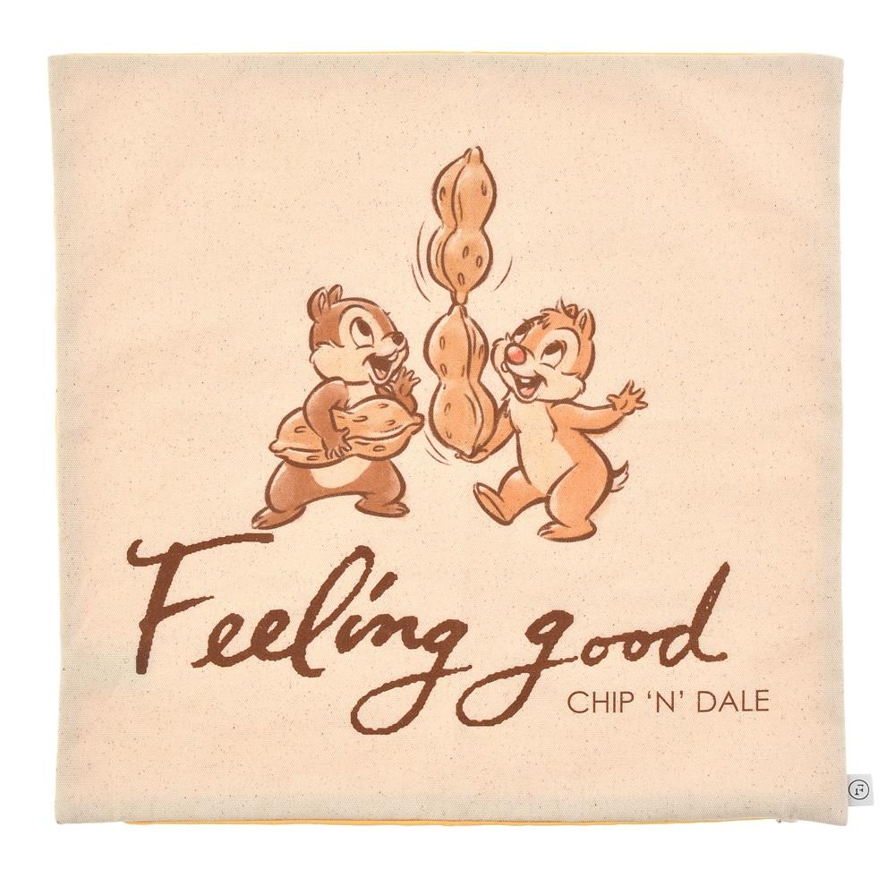 【FOOD TEXTILE】チップ&デール クッションカバー イエロー Chip&Dale FOOD TEXTILE