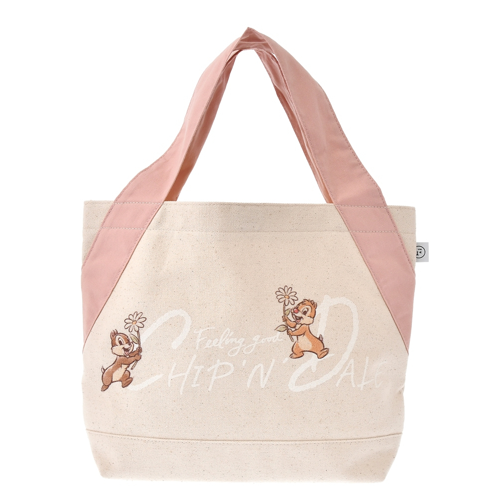 【FOOD TEXTILE】チップ&デール ランチバッグ ピンク Chip&Dale FOOD TEXTILE