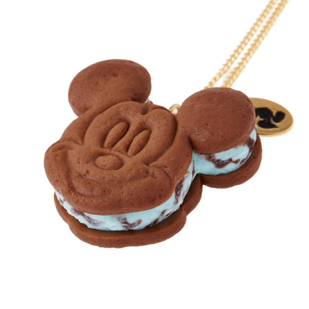 【キューポット】ミッキーマウス /  ネックレス チョコミント クッキーサンドアイス