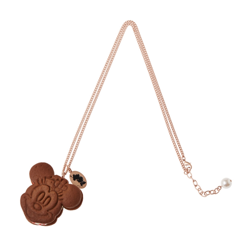【キューポット】ミニーマウス /ネックレス  ラズベリー クッキーサンドアイス