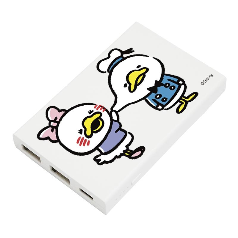 【D-Made】モバイルバッテリーチャージャー うごく!カナヘイ画♪ミッキー&フレンズ ドナルド&デイジー