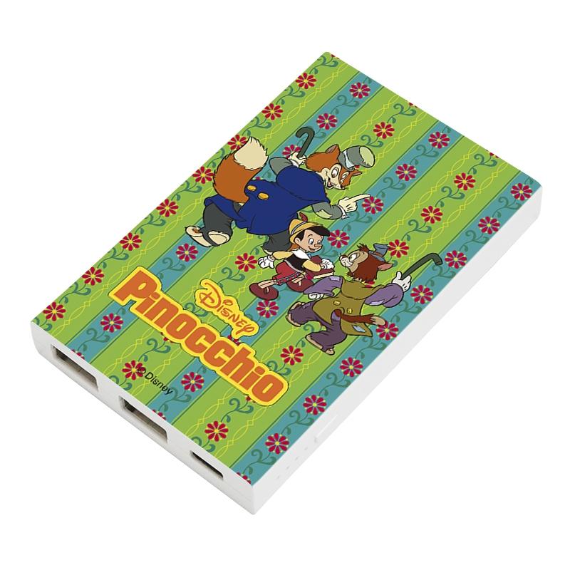 【D-Made】モバイルバッテリーチャージャー ピノキオ ピノキオ&正直ジョン&ギデオン