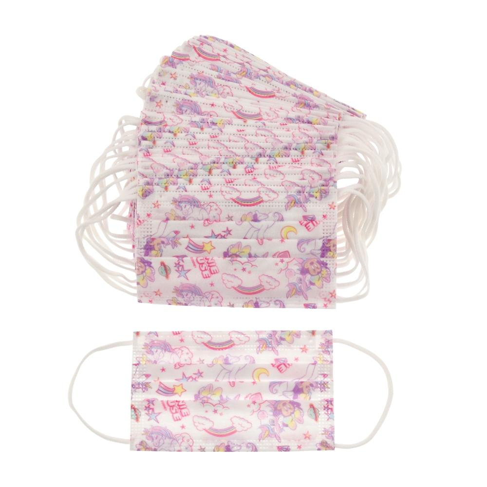 ミニー キッズ用 不織布マスク マスクケース付き ユニコーン