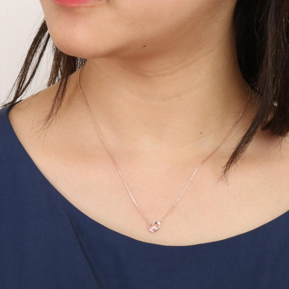 【ザ・キッス】DI-SN1814CB ディズニープリンセス オーロラ姫 / シルバー ネックレス 40cm