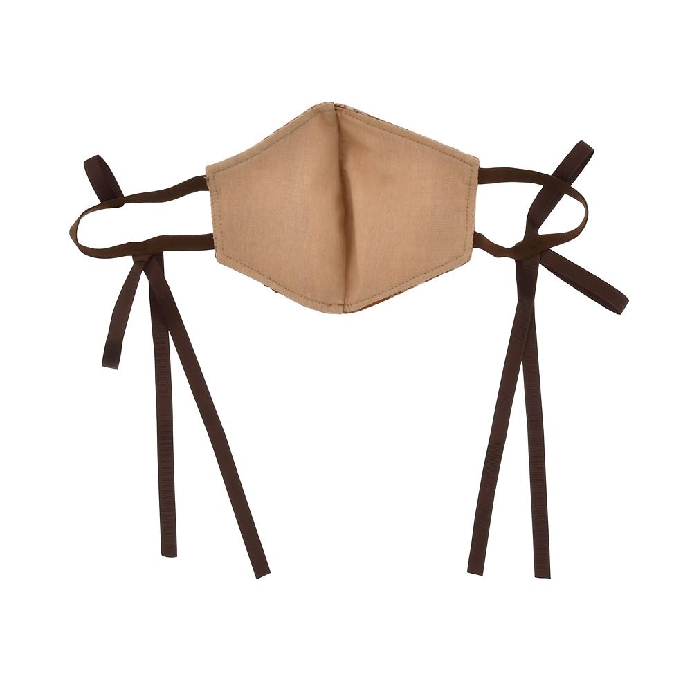 レディ 家庭用布マスク チェック柄 リボン